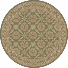 Imperial Charlemagne Heather Green Aubusson Area Rug