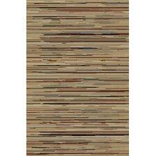 Gem Striation Gold Stripes Area Rug