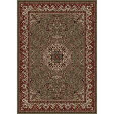 Persian Classics Green/Red Oriental Isfahan Area Rug