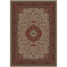 Persian Dark Brown Classics Oriental Isfahan Area Rug
