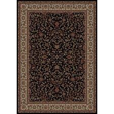 Persian Classics Black Oriental Kashan Area Rug