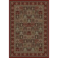 Oriental Classics Panel Red Area Rug