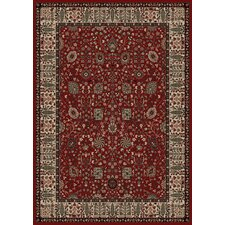 Persian Classics Oriental Vase Red Area Rug