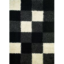 <strong>Concord Global Imports</strong> Shaggy Blocks Black Shag Rug