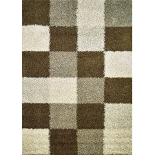 Shaggy Blocks Natural Area Rug