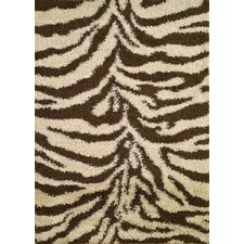 Shaggy Zebra Brown/Tan Area Rug