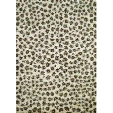 Shaggy Leopard Ivory Shag Rug