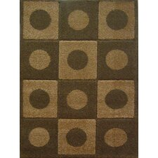 <strong>Concord Global Imports</strong> Aspen Brown Dots & Squares Rug