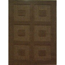 Aspen Party Brown Blocks Rug