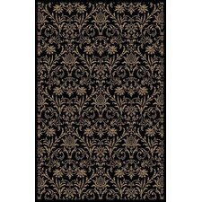 Gem Damask Black Rug