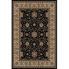 <strong>Concord Global Imports</strong> Gem Voysey Black Rug