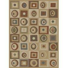 Tribeca Rounds & Squares Tone/Tone Rug