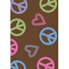 Alisa Peace and Polka Hearts Kids Rug
