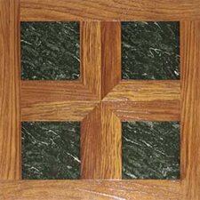 "16"" x 16"" Vinyl Tiles in Paramount Woodtone/Green Marble"