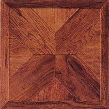 "12"" x 12"" Vinyl Tile in Machine Cherry Wood Cross"