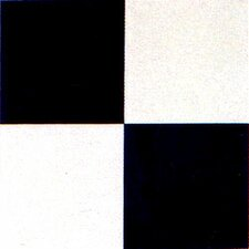 "12"" x 12"" Vinyl Tile in Machine Black / White Check Board"