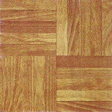 "12"" x 12"" Vinyl Tile in Machine Light Wood"