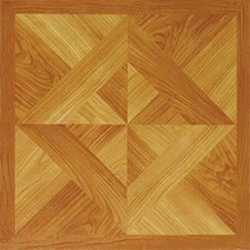 "12"" x 12"" Vinyl Tile in Machine Light Wood Diamond"
