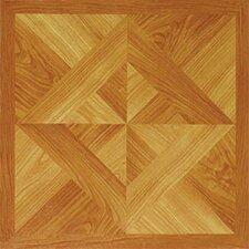 "12"" x 12"" Vinyl Tile in Machine Light Wood Diamond"
