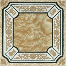 "12"" x 12"" Vinyl Tile in Machine Creme Fancy Adhesive"