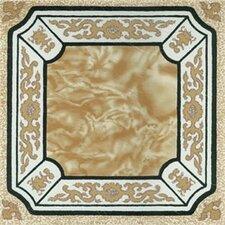 "12"" x 12"" Vinyl Tile in Machine Creme Fancy Adhesive"