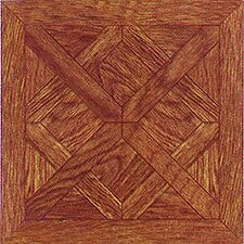 "12"" x 12"" Vinyl Tile in Machine Wood Cross Diamond"