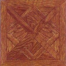 "12"" x 12"" Vinyl Tile in Machine Wood Cross Diamond"