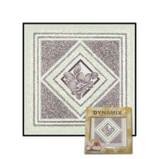 "<strong>Home Dynamix</strong> 12"" x 12"" Vinyl Tile in Light Gray Flower"