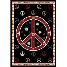 Metro Beat Black Novelty Rug