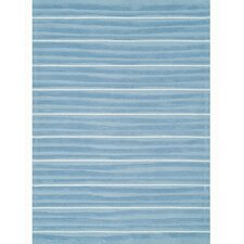 Kidz Image Aquamarine Blue Stripes Kids Rug