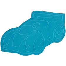 Carnaval Blue Car Kids Rug