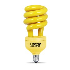 13W Yellow Bug CFL Candelabra Base Light Bulb