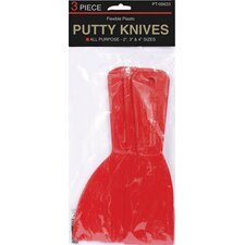 3 Piece Plastic Putty Knife Set PT05633
