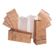 20 Squat Paper Bag in White