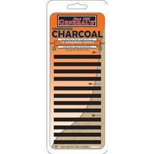 Compressed Charcoal Stick (Set of 12)