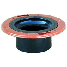 "4"" x 3"" ABS-DWV Closet Flange with Adjustable Metal Ring"
