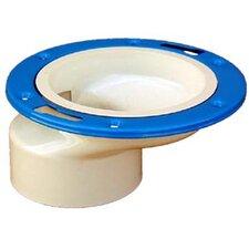 """4"""" x 3"""" Sch. 40 PVC-DWV Offset Closet Flange"""