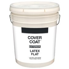 5 Gallons Flat White Exterior Latex House Paint