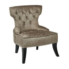 Colton Vintage Style Button Tufted Velvet Side Chair