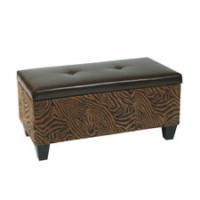 Detour Leather Storage Bench