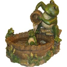 <strong>Alpine</strong> Mother Frog Bathing Family Fountain