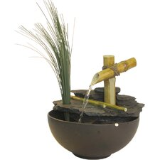 <strong>Alpine</strong> Eternity Bamboo and Leaf Tabletop Fountain