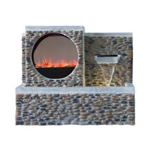 Ultra Fire Fiberglass Pebble Fountain with LED Light