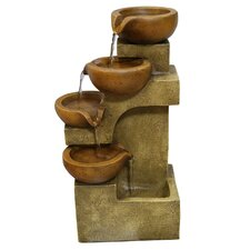 Polyresin Tiering Pots Fountain