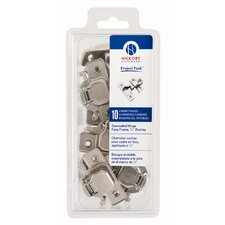 "<strong>HickoryHardware</strong> Project Pack Concealed Face Frame with 0.5"" Overlay (Pack of 10)"