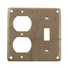 "4"" Square 2 Gang Combination Duplex and Toggle Box Cover"