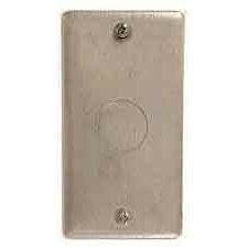Single Gang Blank Wallplate with Knock Out