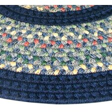 Pioneer Valley II Meadowland Blue with Dark Blue Solids Multi Runner Rug