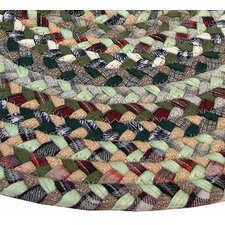 Pilgrims Heritage II Green Plaid Multi Runner Rug