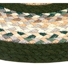 Minuteman Green & Beige Plaid Mix with Olive Green Solids Multi Runner Rug